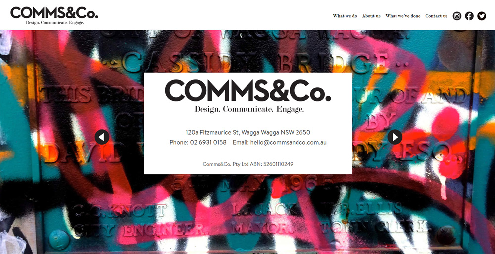 Comms & Co. Website Development