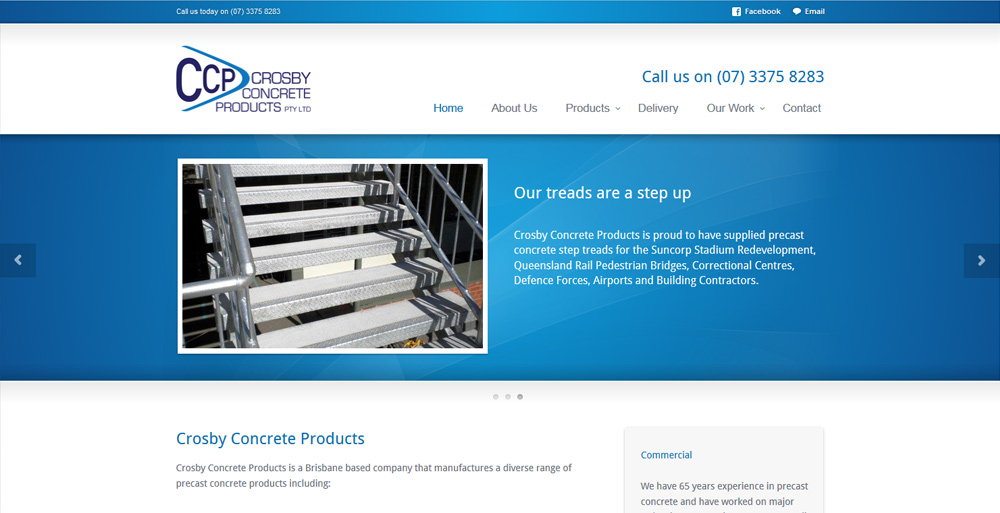 Brisbane Concrete Products website