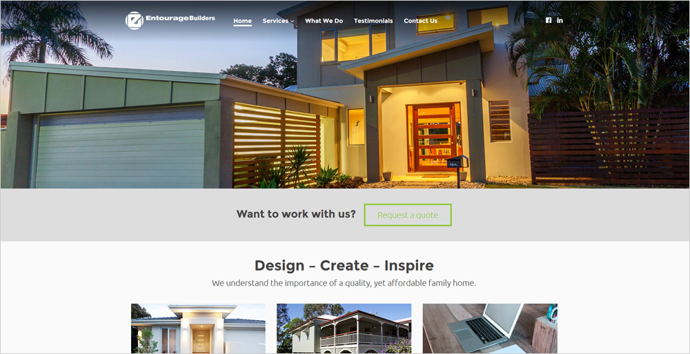 Builders website sample