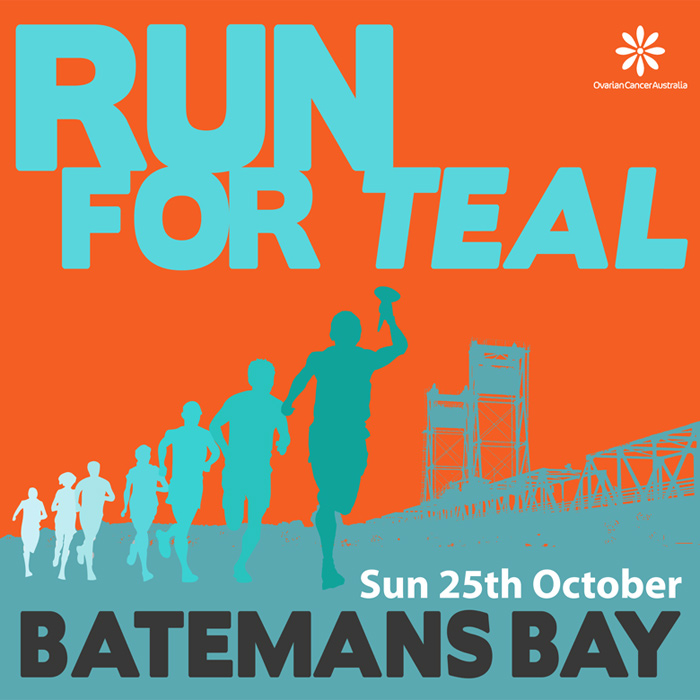 A4 poster for Run for Teal fun run